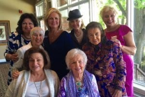 Front: Shammy Loosvelt and Camilla Kavanagh, Middle: Irene Davis and Maggie Allesee, Back: Bettina Gregg, Katana, Judie Sherman, and Linda Juracek-Lipa Leadership and Donors - Women's Division for Project HOPE Annual Meeting