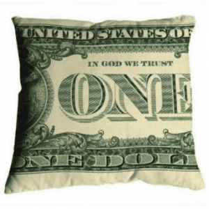 money pillow