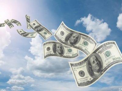 money_flying